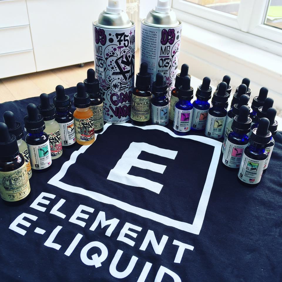 Element E-Liquid Review: Dripper Series, Emulsions, FAR & Tonix!!