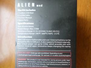 SMOK ALIEN 220W TC Box Mod