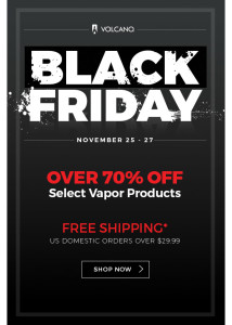 Best Black Friday Vape Deals - Volcano