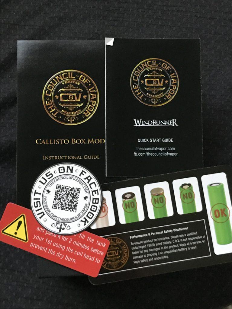 Council of Vaper Callisto Kit