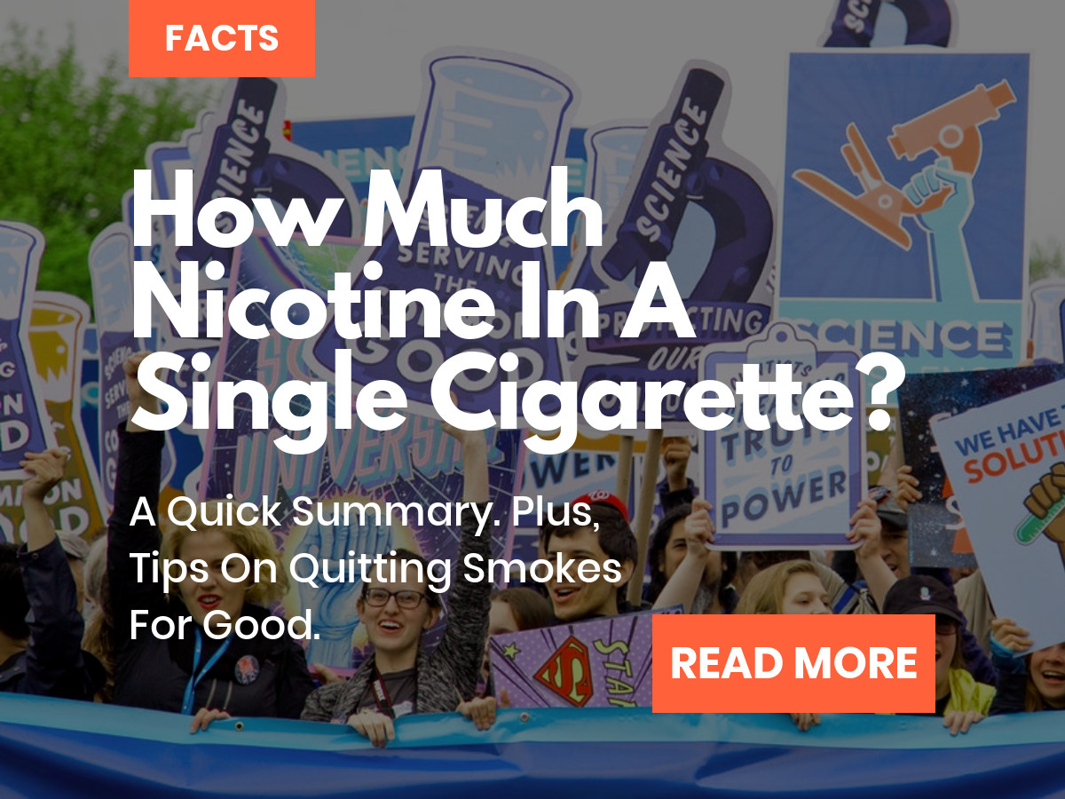 How much nicotine is in a cigarette