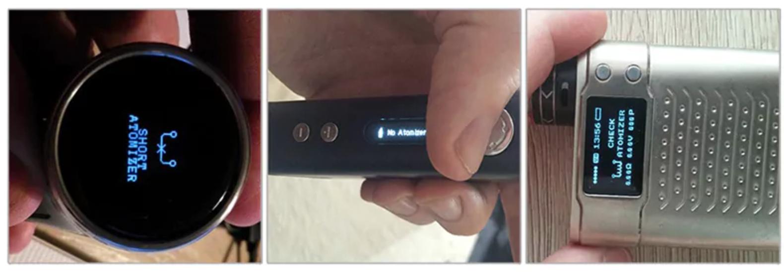 smok mod short atomizer error