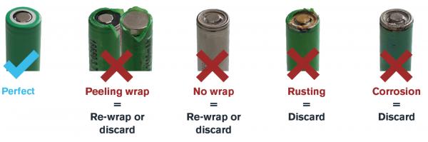 damaged vape batteries