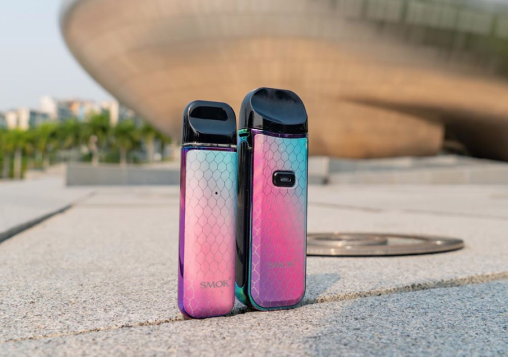 The SMOK Nord 2 and The SMOK NOVO side by side picture